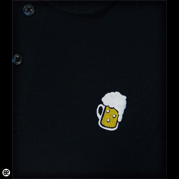 ポロシャツ:ビア : ブラック