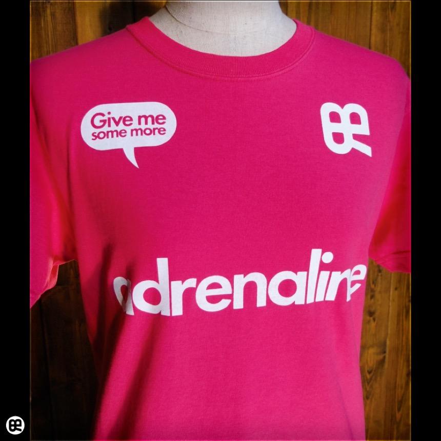 adrenaline:ショッキングピンク:Tシャツ