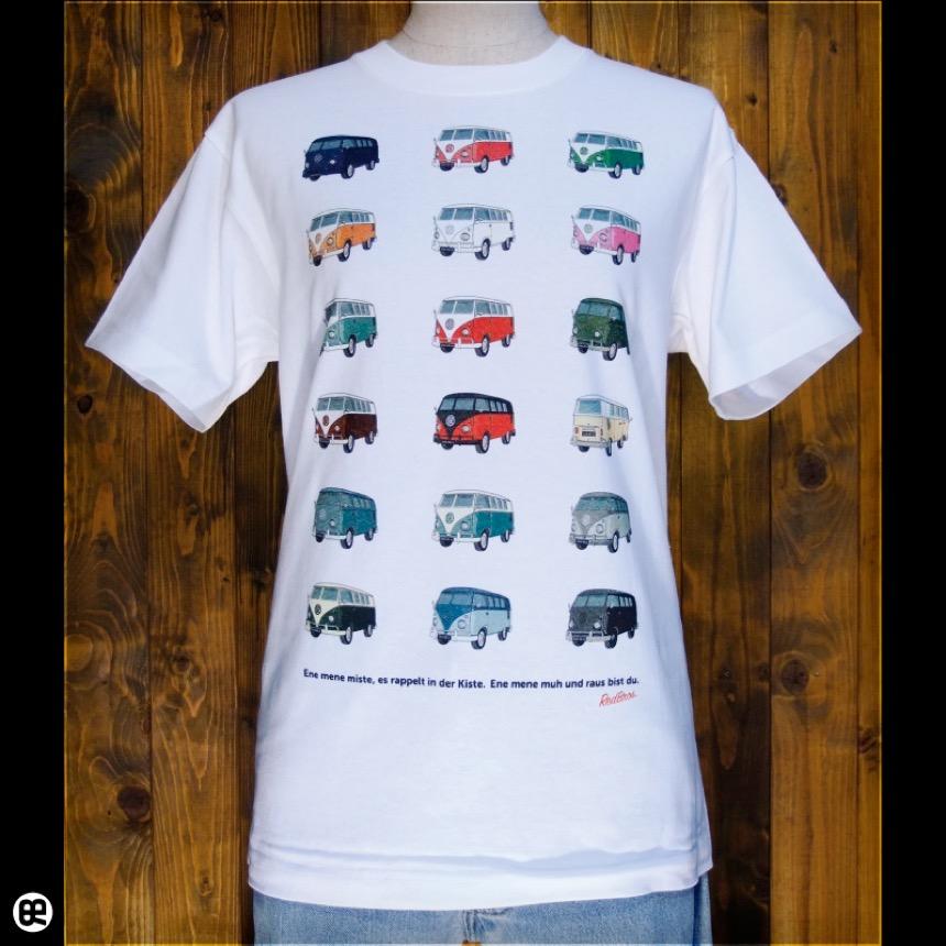 バス:ホワイト:Tシャツ