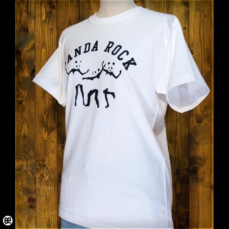 PANDA ROCK : ホワイト:Tシャツ