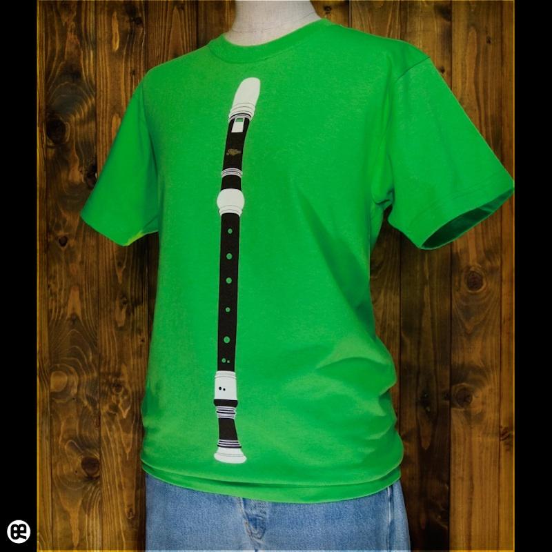 リコーダー : グリーン:Tシャツ