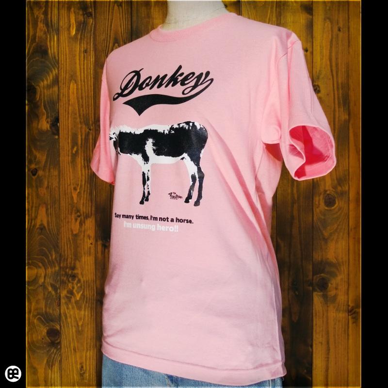 ロバ : ピンク:Tシャツ