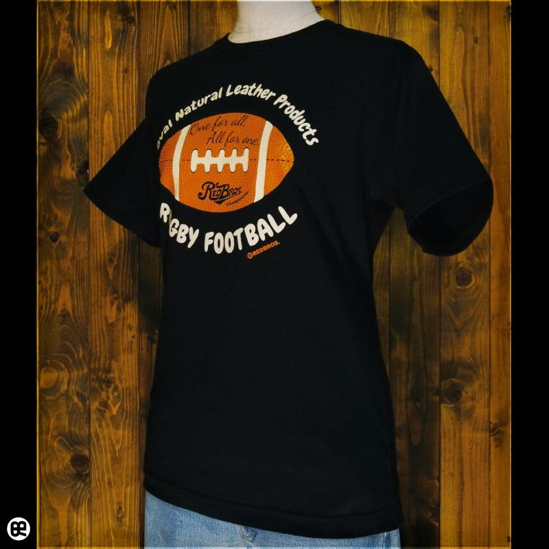 ラグビーボール : ブラック:Tシャツ
