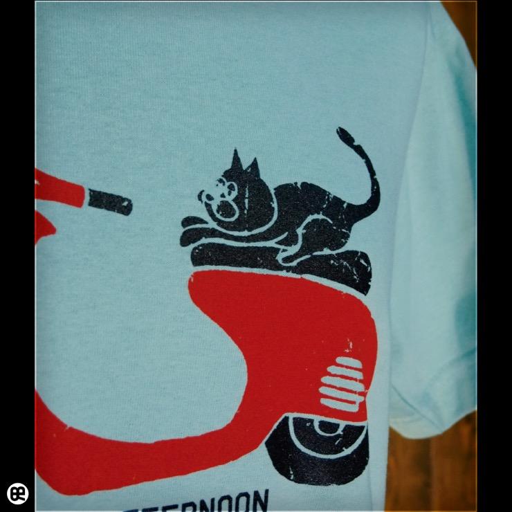 猫バイク : フロストスカイ:Tシャツ