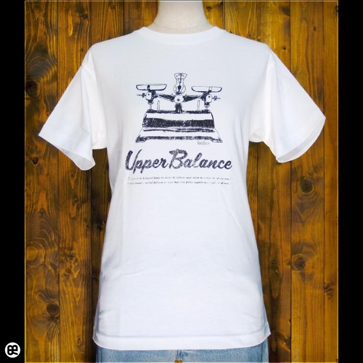 上皿天秤 : ホワイト:Tシャツ
