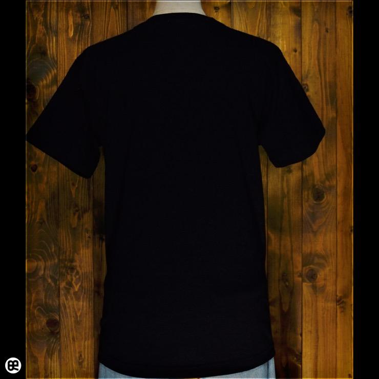 サイドスカル : ディープブラック:Tシャツ