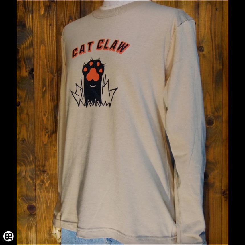 ロンT : CAT CLAW : サンドカーキ