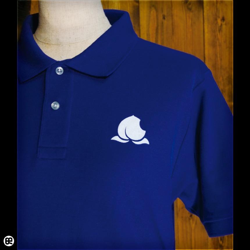 ポロシャツ:Peach Inc : コバルトブルー