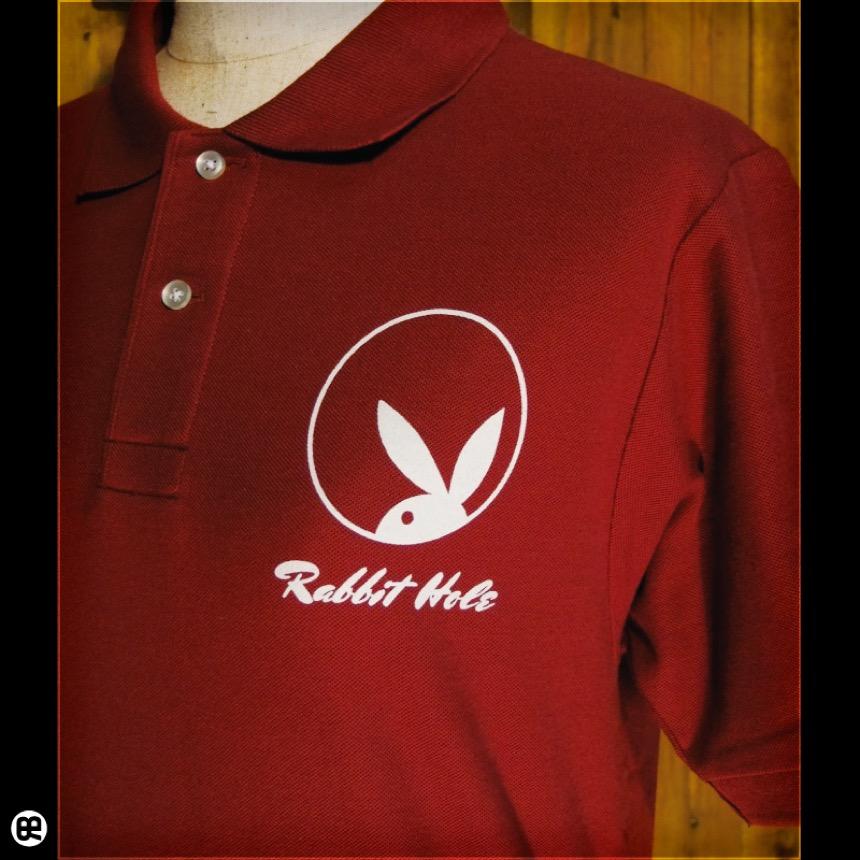 ポロシャツ:Rabbit Hole : バーガンディ