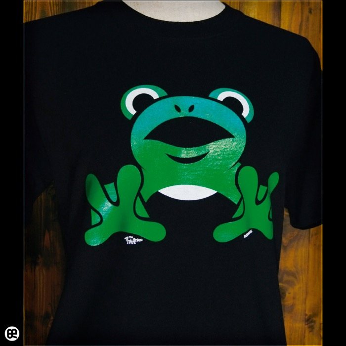 跳ね蛙 : ディープブラック:Tシャツ