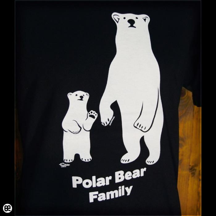 シロクマ親子 : ディープブラック:Tシャツ