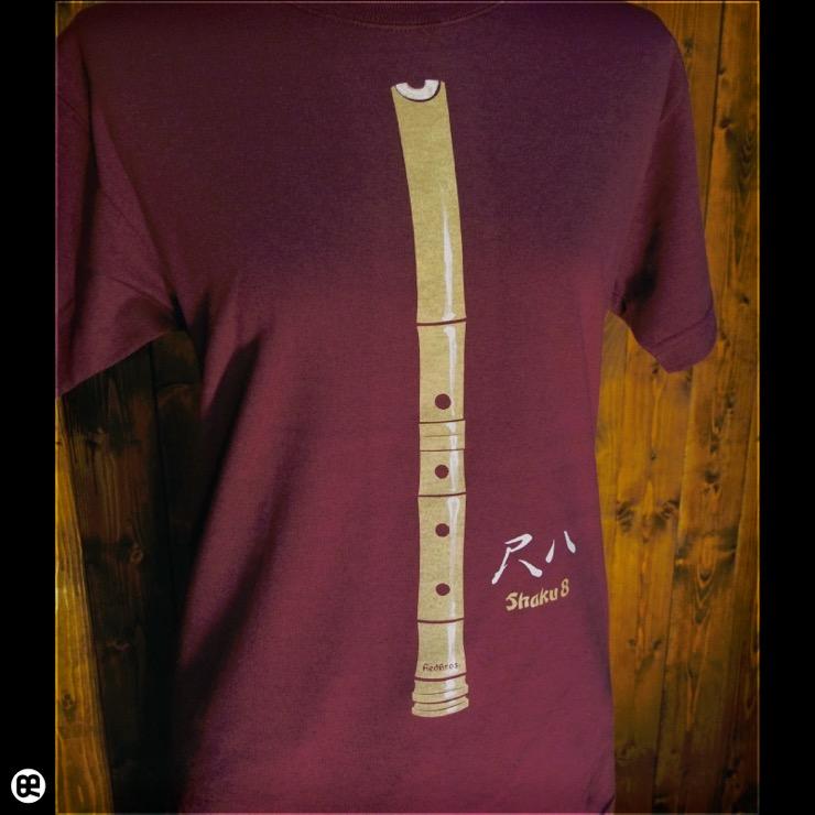 尺八 : バーガンディ:Tシャツ
