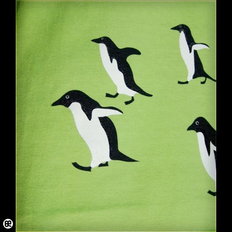 ロンT:進撃のペンギン : ライムグリーン