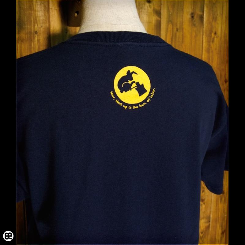 月うさぎ : ネイビー:Tシャツ