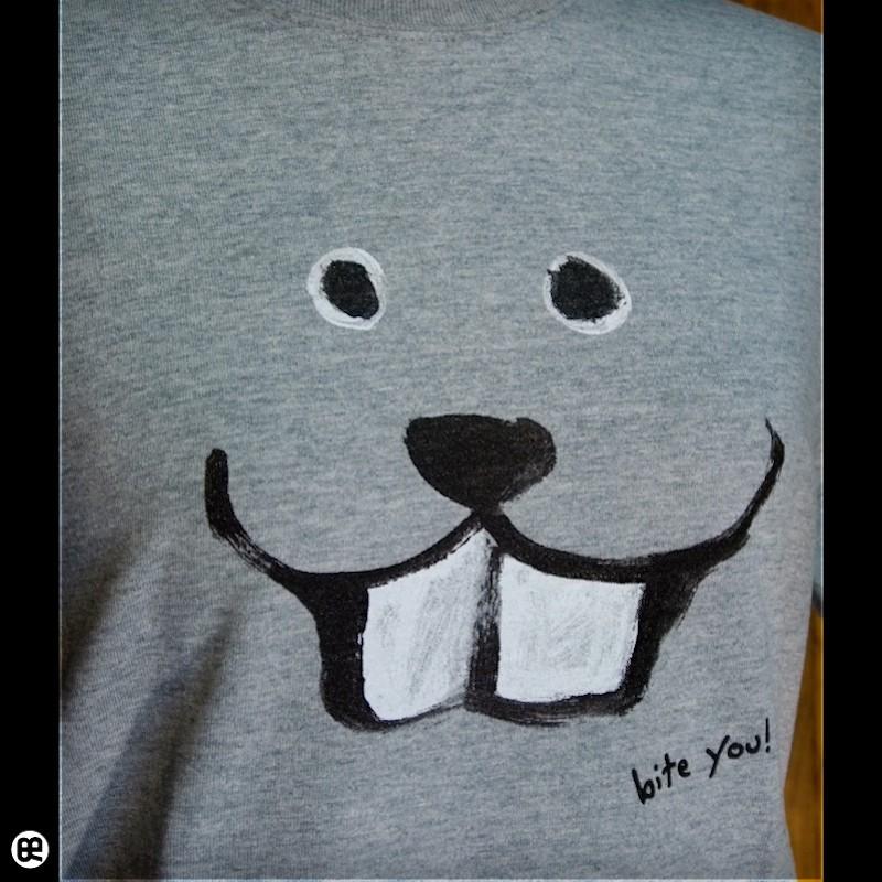 噛むよ : ヘザーグレー:Tシャツ