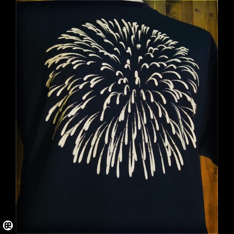 花火 : ネイビー:Tシャツ