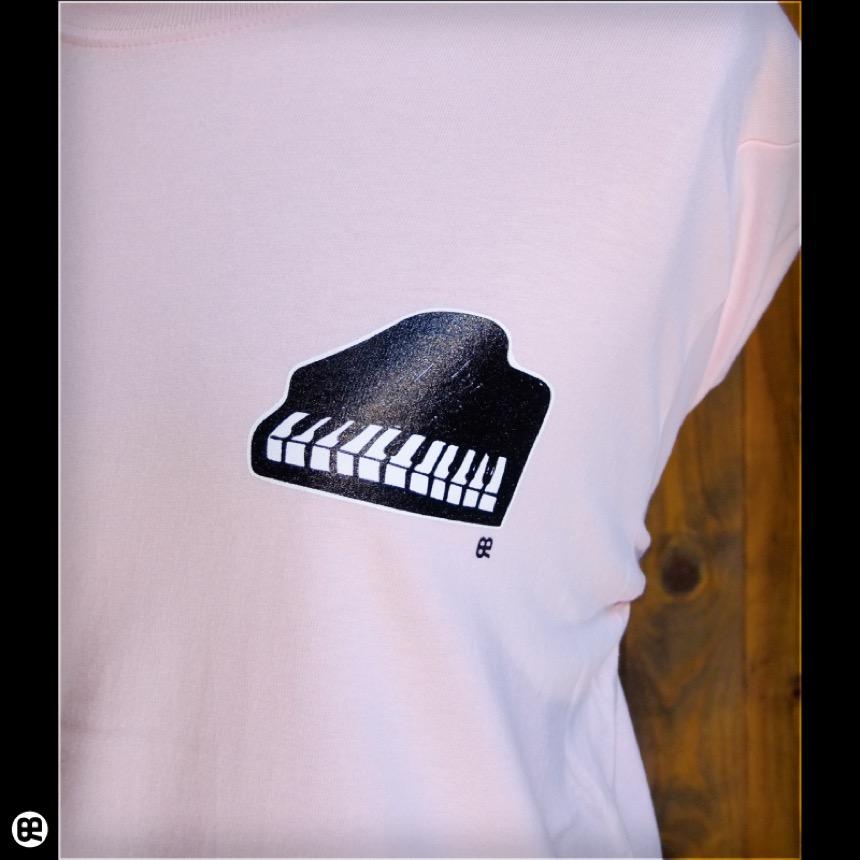 ロンT : piano : ベビーピンク