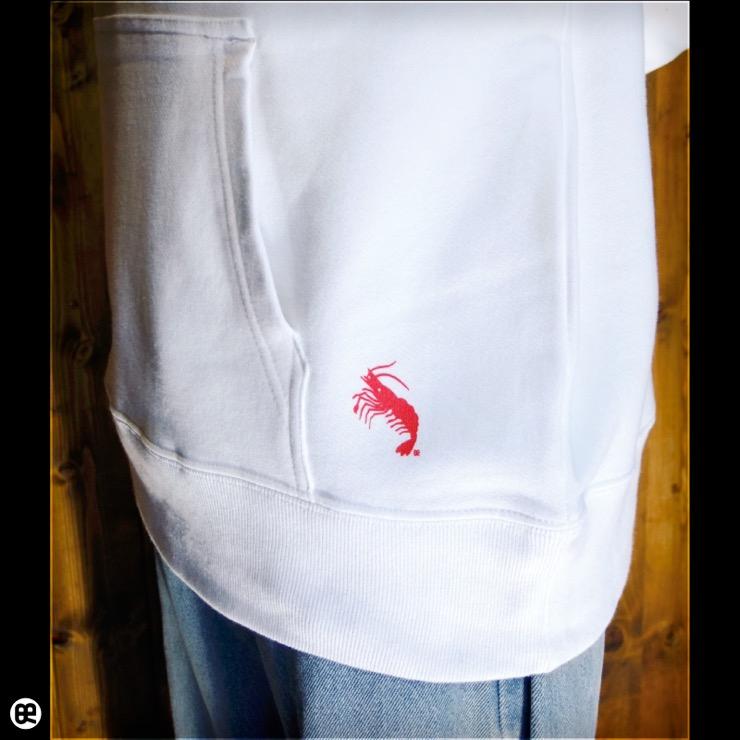プルパーカー:厚地:Shrimp : ホワイト