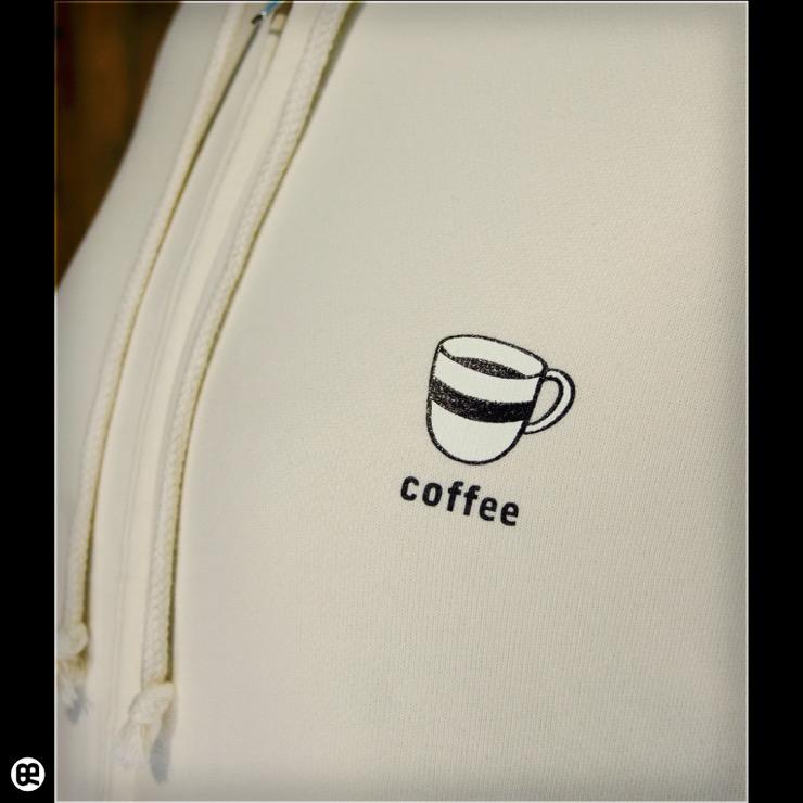 ジップパーカー:厚地:coffee : ナチュラル