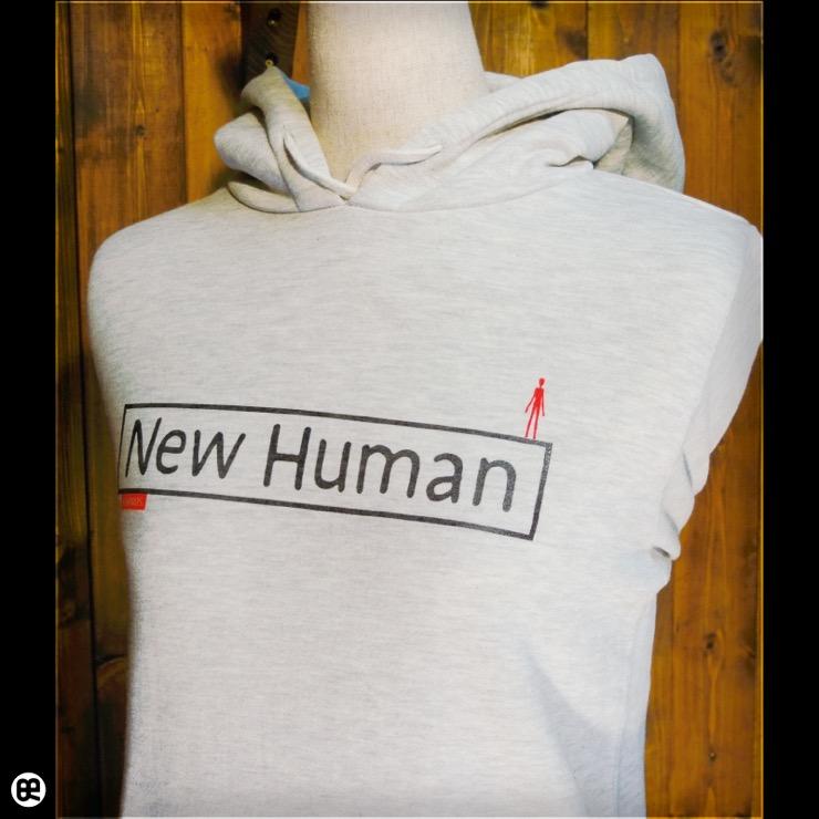 プルパーカー : 薄地裏起毛:New Human : オートミール