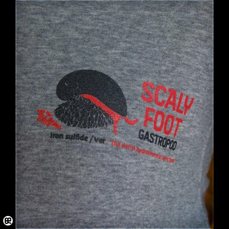 ジップパーカー:厚地裏起毛:Scaly Foot : ヘザーグレー