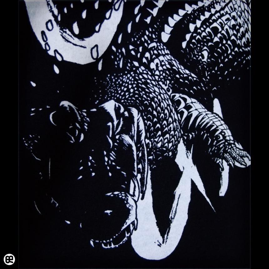 クロコダイル:ディープブラック:Tシャツ
