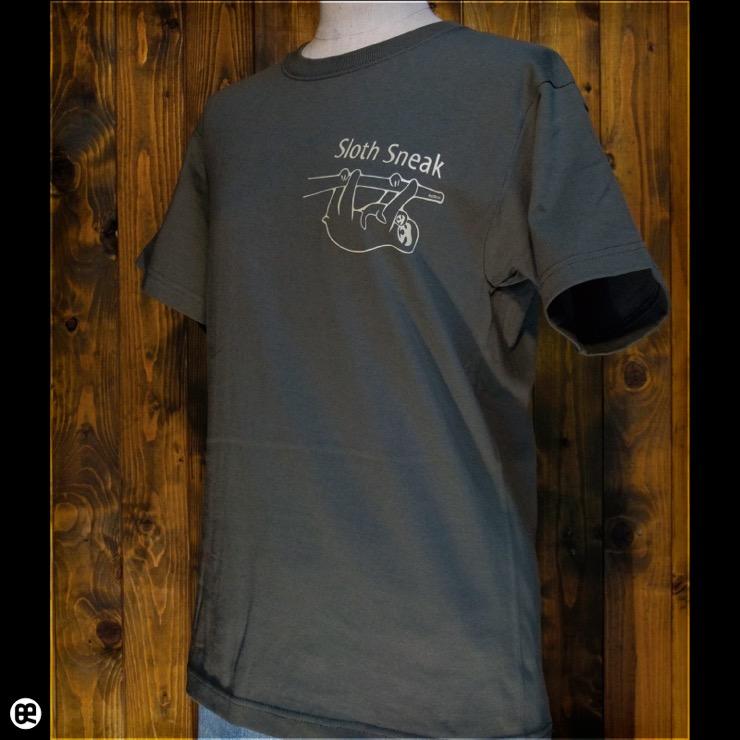 Sloth Sneak:アーミーグリーン:Tシャツ