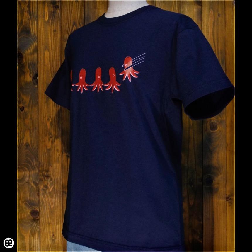 タコさんウィンナー:ネイビー:Tシャツ