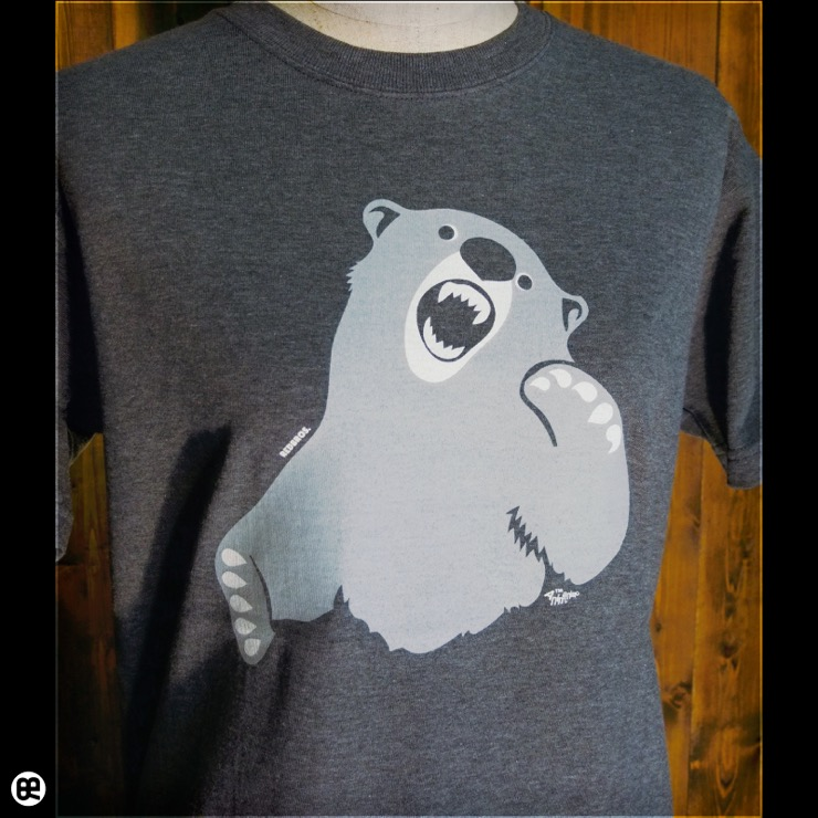 ハンティングベア : チャコール:Tシャツ