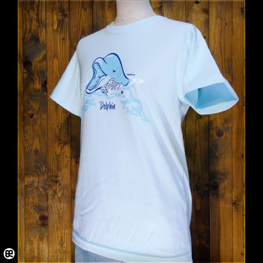 ドルフィン:アクアブルー:Tシャツ