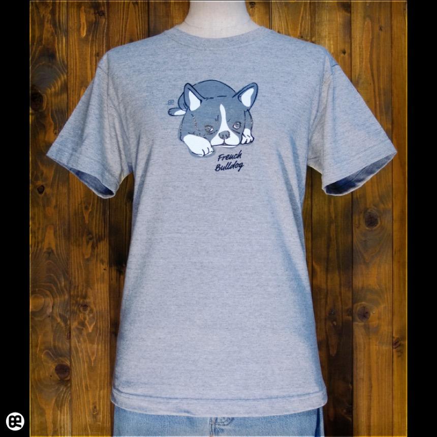フレンチブル:ヘザーグレー:Tシャツ
