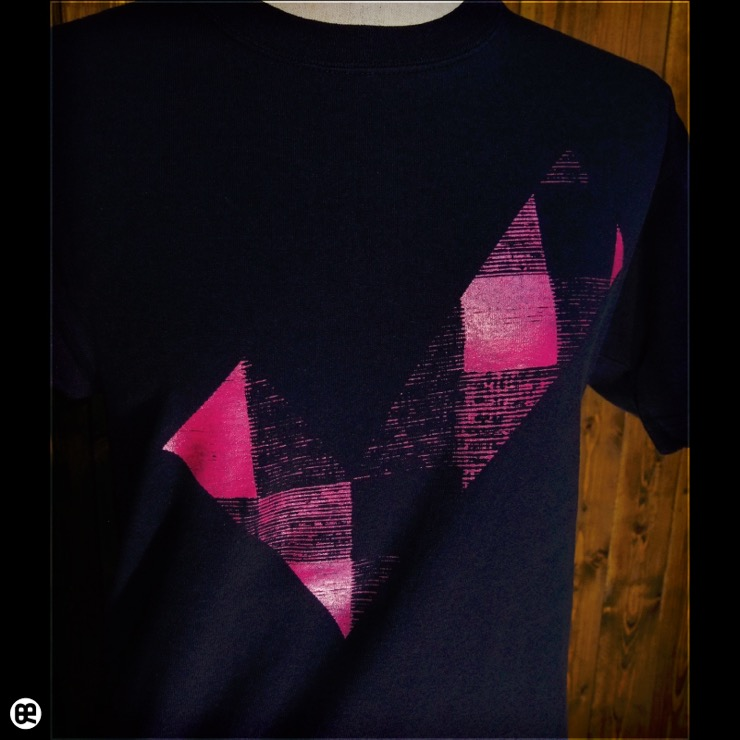 チェックdeチェック : ネイビー:Tシャツ