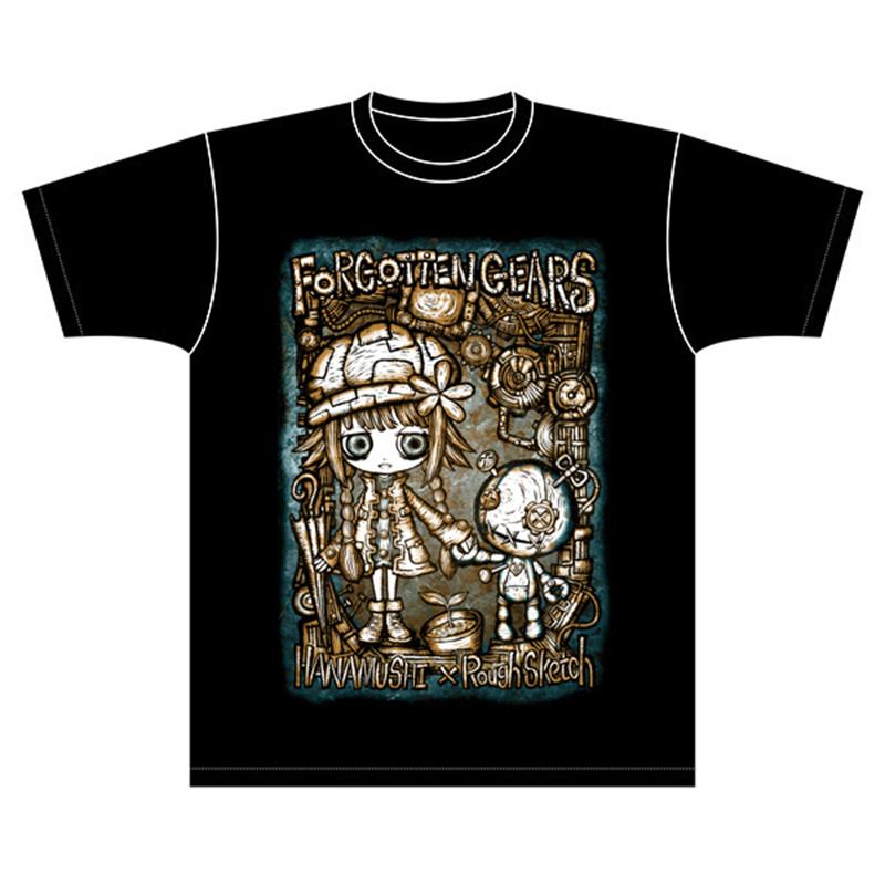 花蟲×RoughSketchコラボ「FORGOTTEN GEARS」Tシャツ