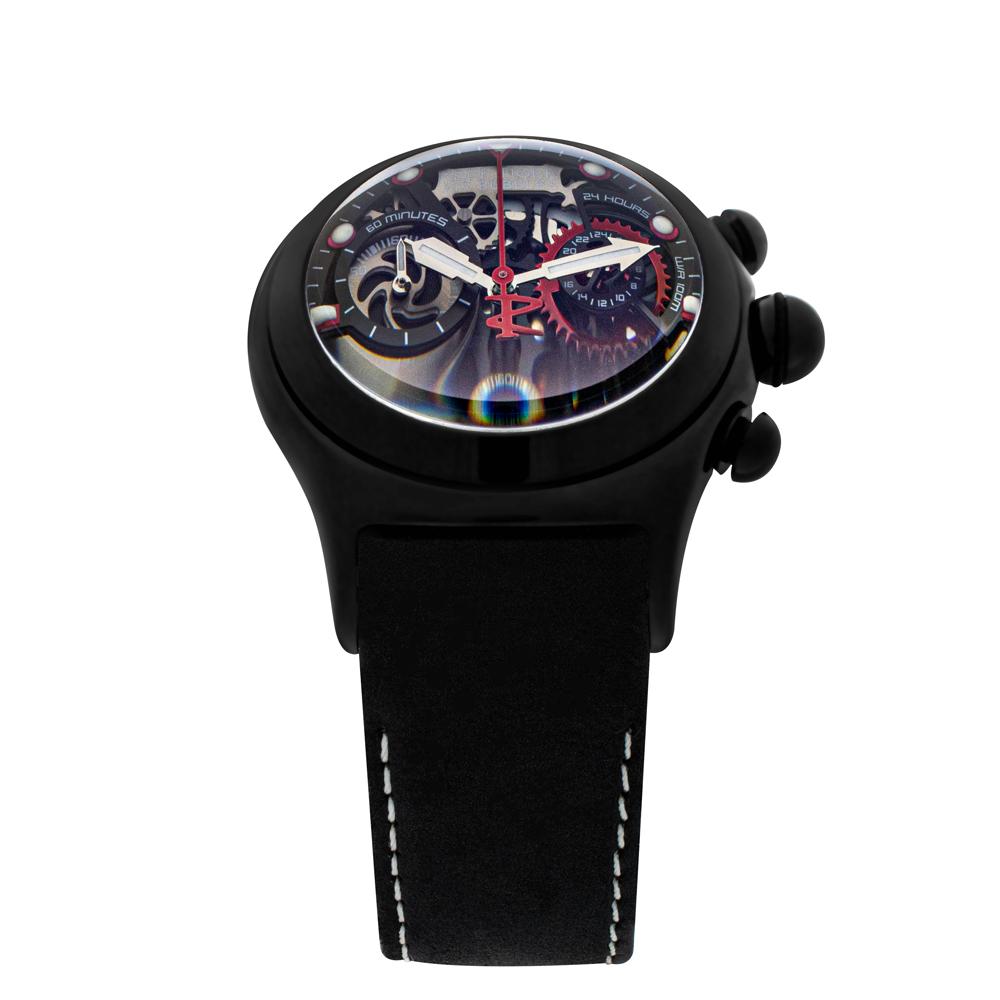 【REEF TIGER】 クォーツ式のスケルトン腕時計 リーフタイガーRGA792BBB