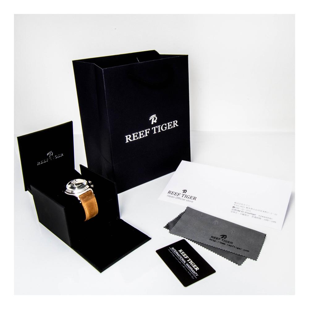 【REEF TIGER】 クォーツ式のスケルトン腕時計 リーフタイガーRGA792YWS