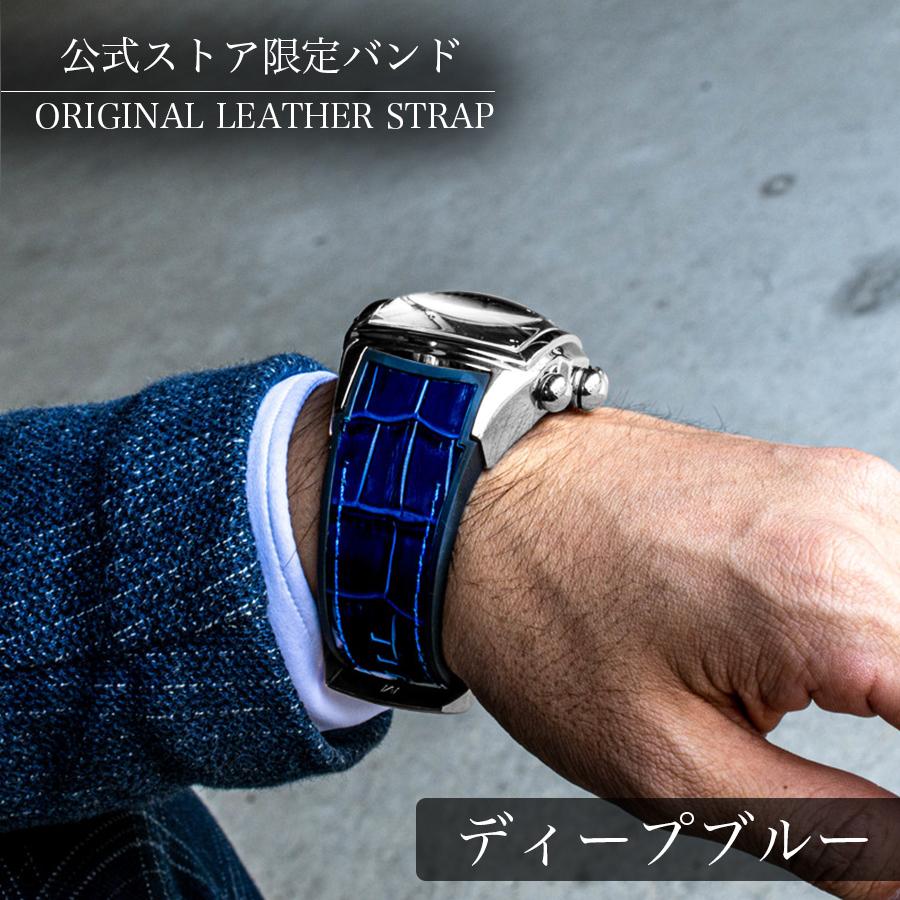 大きいサイズの腕時計 クロノグラフ搭載 REEF TIGER【RGA3069-T-YWB】シルバー / ホワイトフェイス