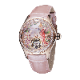 【 RGA7105-PPP】REEF TIGER 可愛らしい球面ガラス 自動巻き式バードダイアル腕時計 レディース ピンクゴールド /ピンクダイアル