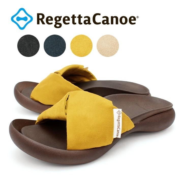 リゲッタカヌー RegettaCanoe CJFD-5361 ツイストサンダル レディース ぺたんこ 履きやすい 歩きやすい スエード