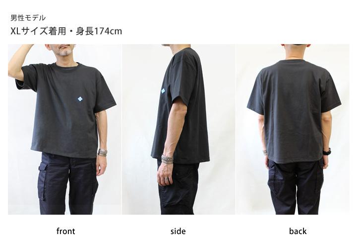 RegettaCanoe -リゲッタカヌー- rct-001  Tシャツ ロゴ 刺繍 ワンポイント ワッペン 厚手 アンバランス 丈 綿 コットン 男女兼用 ユニセックス