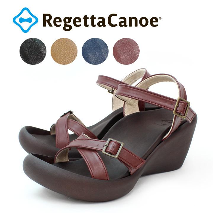 リゲッタカヌー RegettaCanoe CJHW-5601a クロスベルト ウェッジヒール ハイヒール サンダル レディース 履きやすい 歩きやすい リゾート 細ベルト 美脚