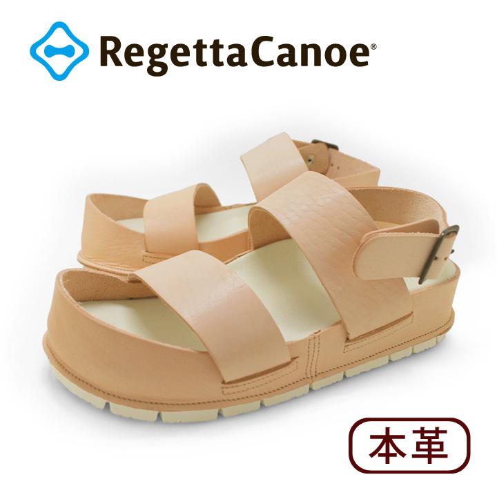 リゲッタカヌー RegettaCanoe cjcr-2501 ヌメ革クラフトカヌーサンダル サンダル レディース バックベルト カバーデザイン 滑りにくい ローヒール 本革