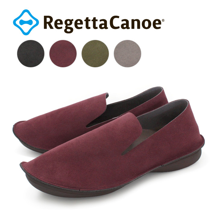 リゲッタカヌー RegettaCanoe CJBB-4611 バブーシュ オニグリ オペラシューズ ぺたんこ パンプス 履きやすい 歩きやすい レディース