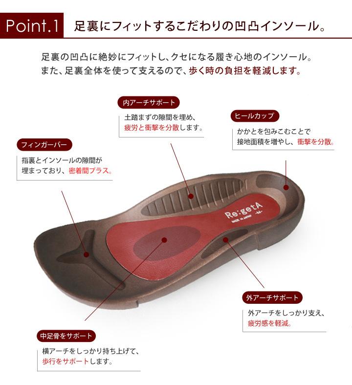 Re:getA -リゲッタ- R-68E おうち時間  ルームサンダル  ユニセックス 室内履き オフィス履き 履きやすい