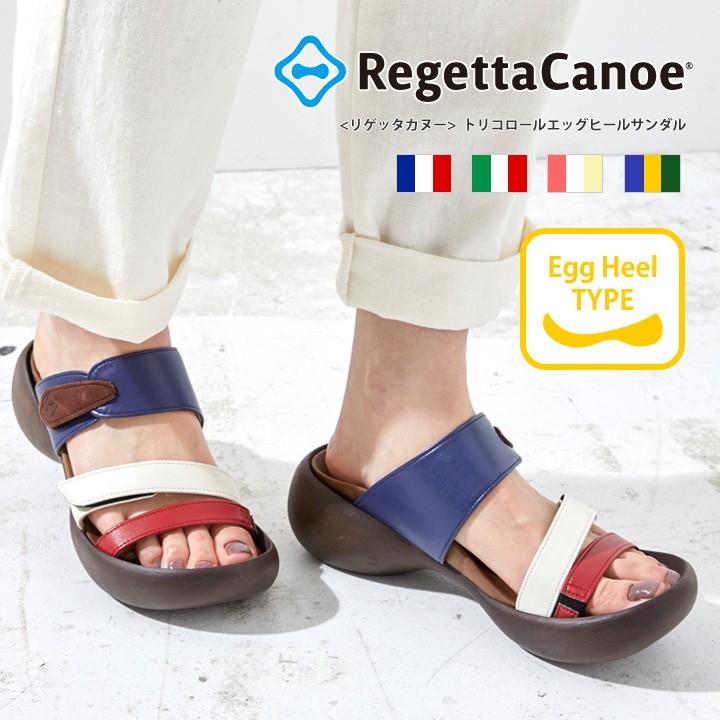 リゲッタカヌー RegettaCanoe CJEG-5224 エッグヒール トリコロールエッグヒールサンダル