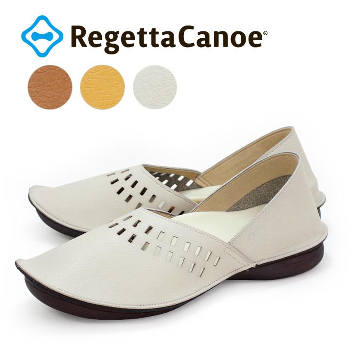 リゲッタカヌー RegettaCanoe CJBB-4609 バブーシュソール 染め生地タイプ 2WAY ぺたんこ 履きやすい 歩きやすい レディース