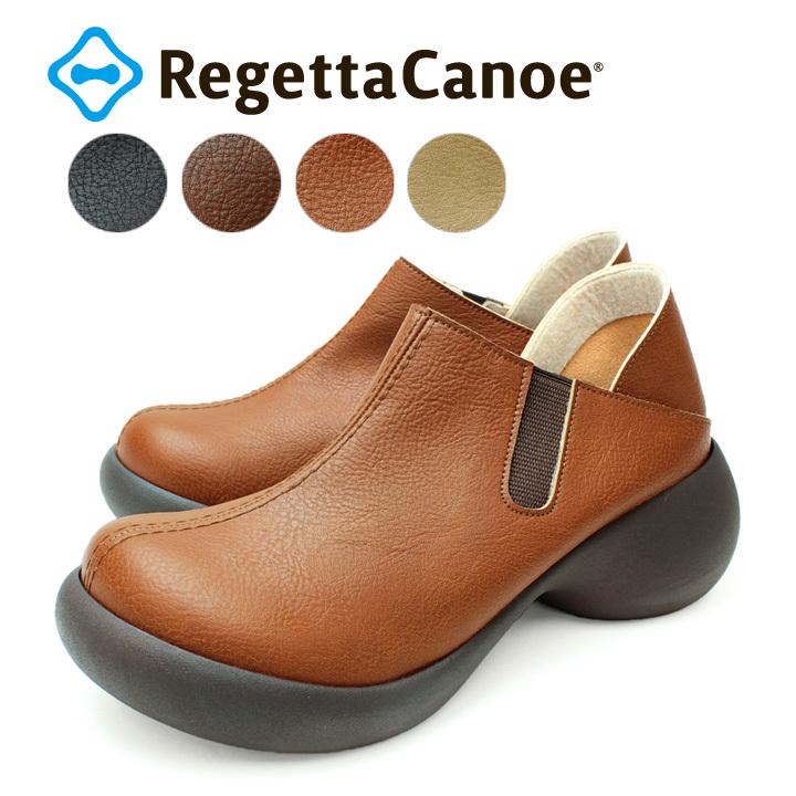 リゲッタカヌー RegettaCanoe CJES-6130 エッグヒール サボ スリッポン シューズ サイドゴア レディース 厚底 歩きやすい 履きやすい