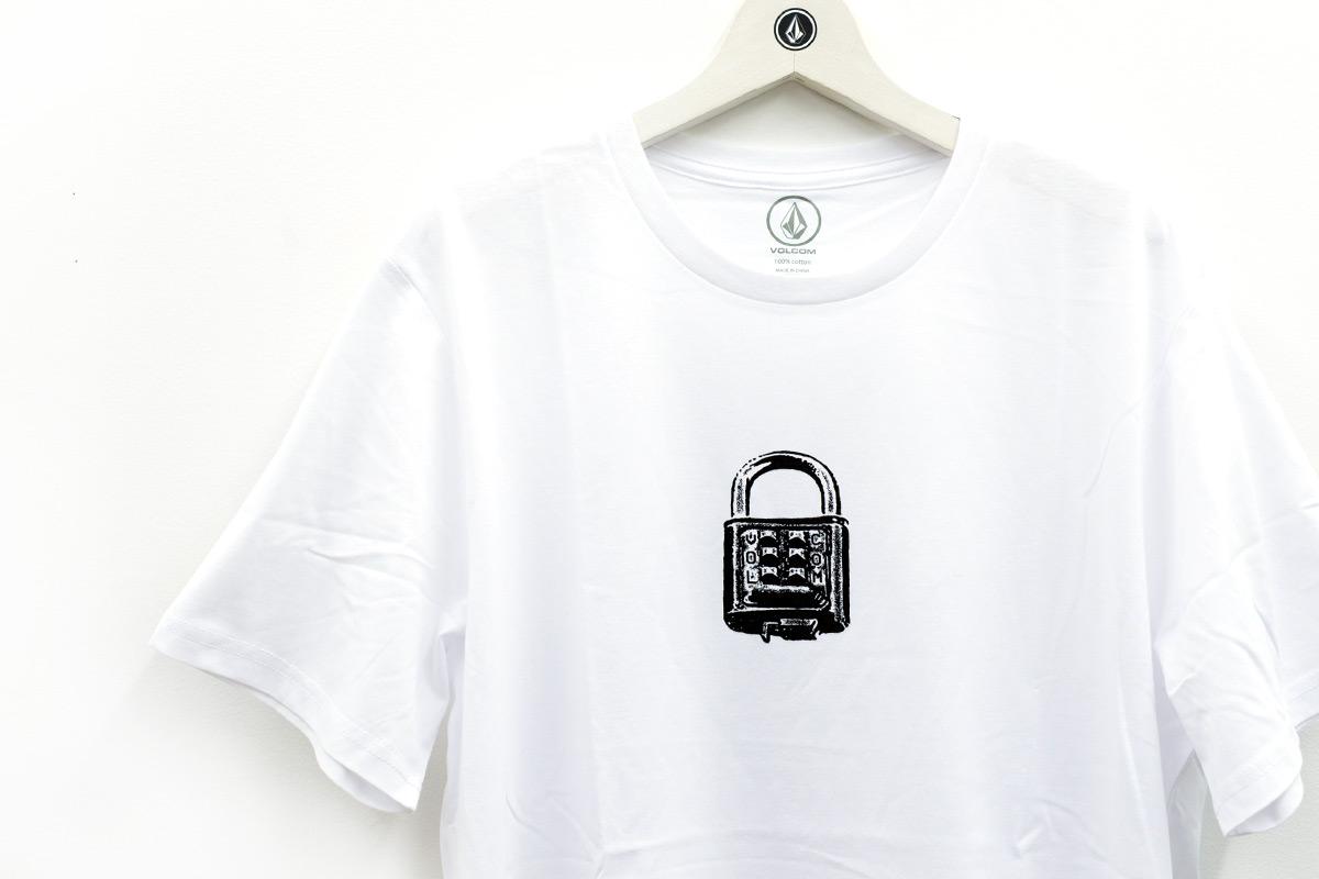 VOLCOM ボルコム メンズ アジアンフィットTシャツ 半袖 AF542004 Code Cracker S/S Tee [WHT]