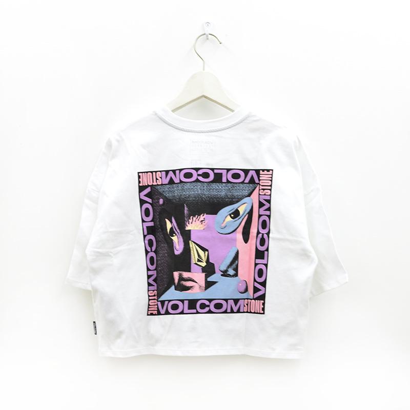 VOLCOM ボルコム レディース クロップドTシャツ B3512116 M. Loeffler Fa Tee [WHT]