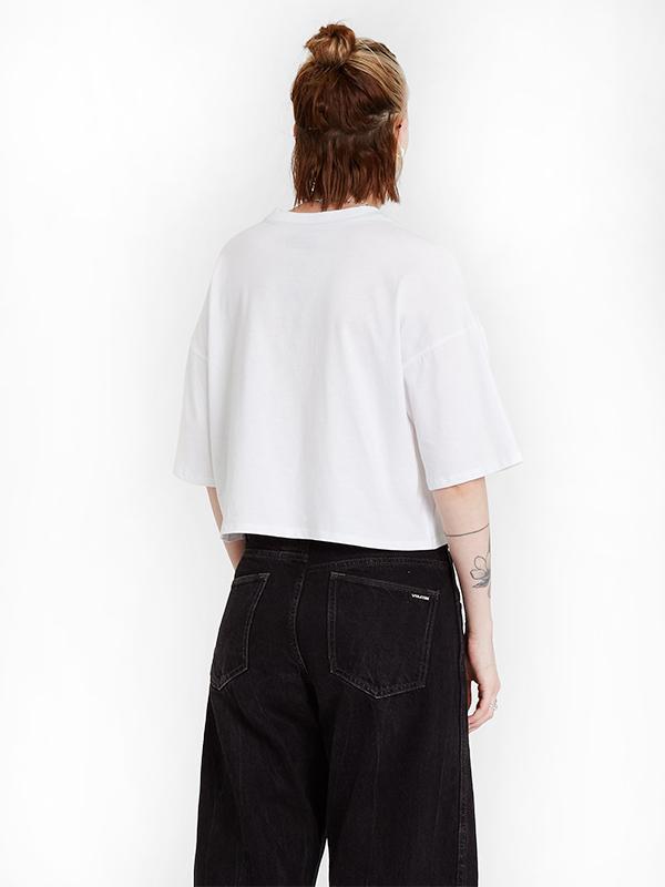 VOLCOM ボルコム レディース クロップドTシャツ B3512117 Fa Fortifem Tee [WHT]