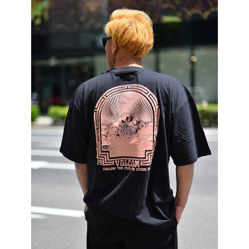 VOLCOM ボルコム メンズ アジアンフィットTシャツ 半袖 AF012107 Apac Dither S/S Tee [BLK]